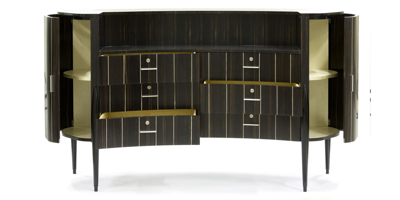 "Curved chest of drawers ""Ginevra"" Faar-FabbroArredi 1: front"