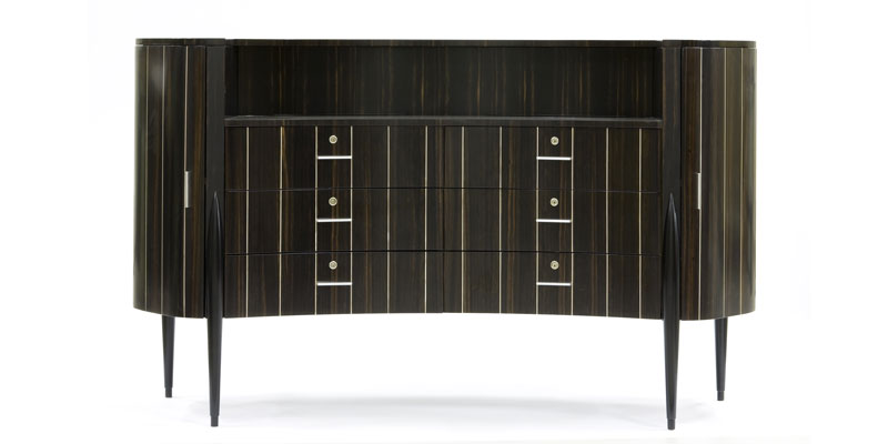 "Curved chest of drawers ""Ginevra"" Faar-FabbroArredi 3: front"