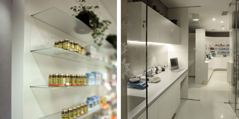 Pharmacy Furnishings 2:  shelves and lab view Faar-FabbroArredi