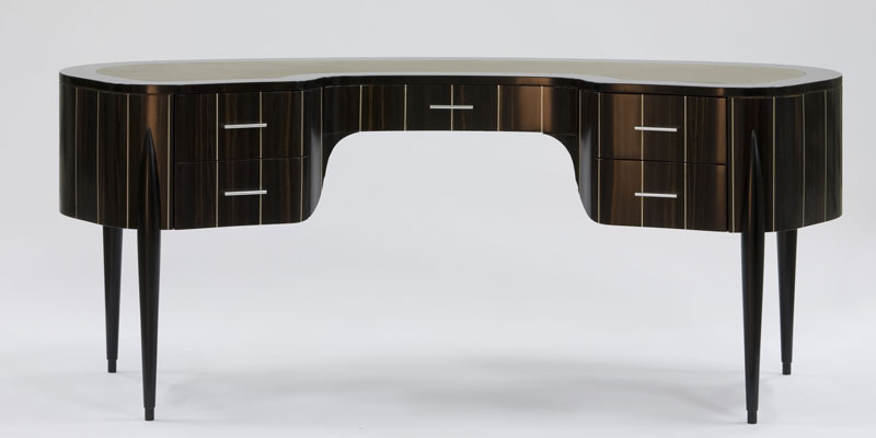 "Curved writing desk ""Geneva"" Faar-FabbroArredi 2: front"
