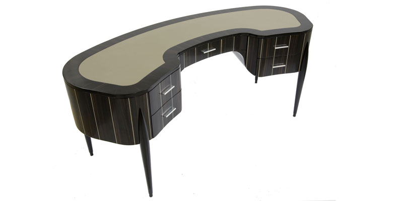 "Curved writing desk ""Geneva"" Faar-FabbroArredi 1: top"