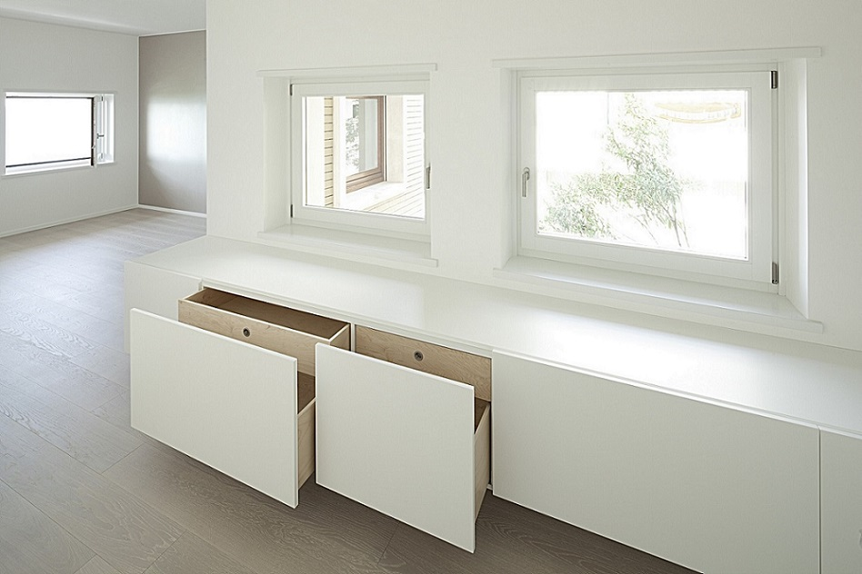 Villa 7: floating large drawers Faar-Fabbro Arredi