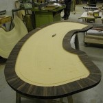Curved Writing Desk: manufacturing